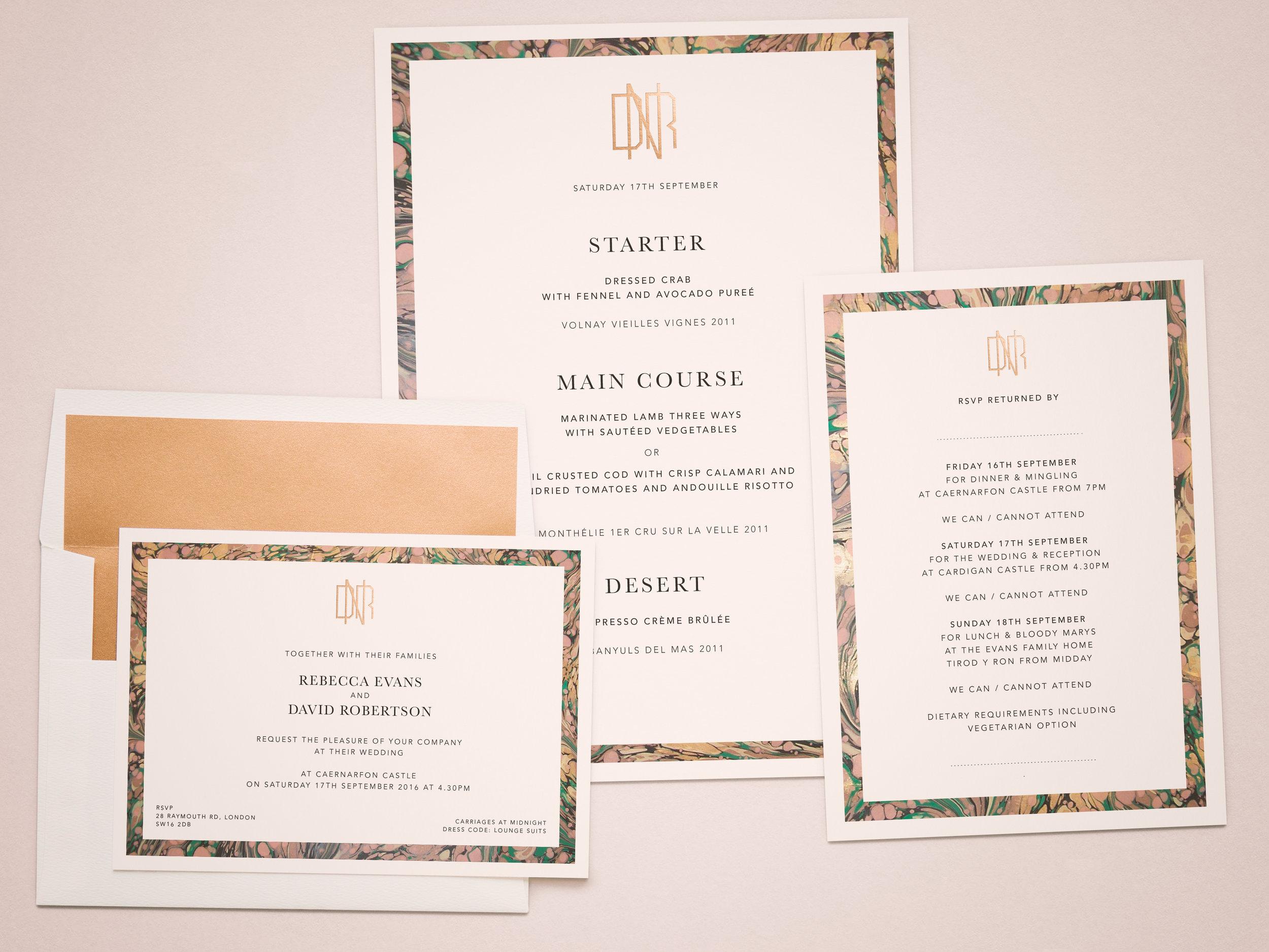Farrah & Pearce - Bespoke Stationery Wedding Invites