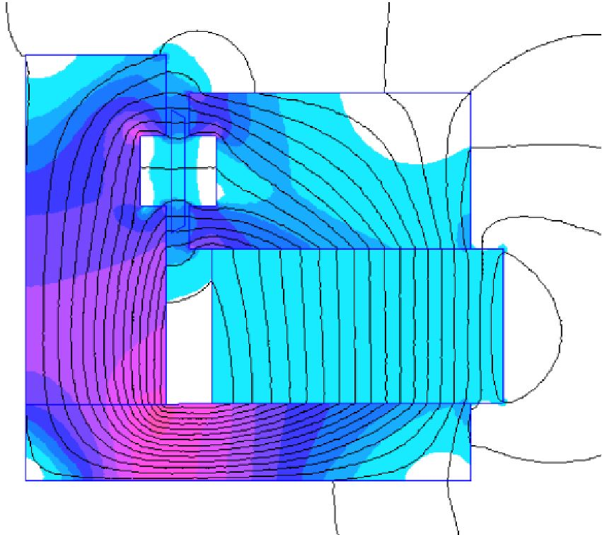 "Figure 11: Example of FEA simulation run on XBL motor (Wiggins. ""XBL: A Primer"")"