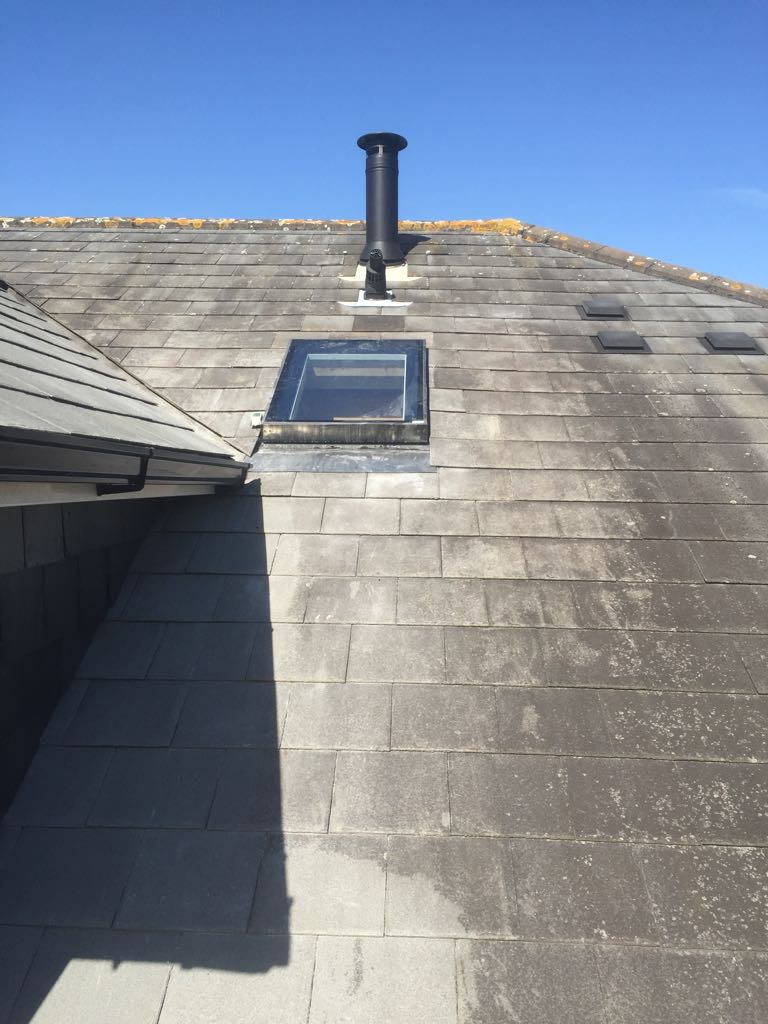 Loft window istallation and tiling