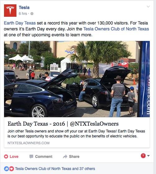 We even got a nice plug from Tesla!
