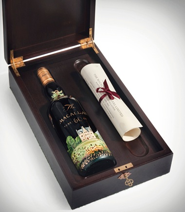 This prized bottle of aged single malt comes in a 'one-of-a-kind' presentation box with a letter from The Macallan's whisky maker