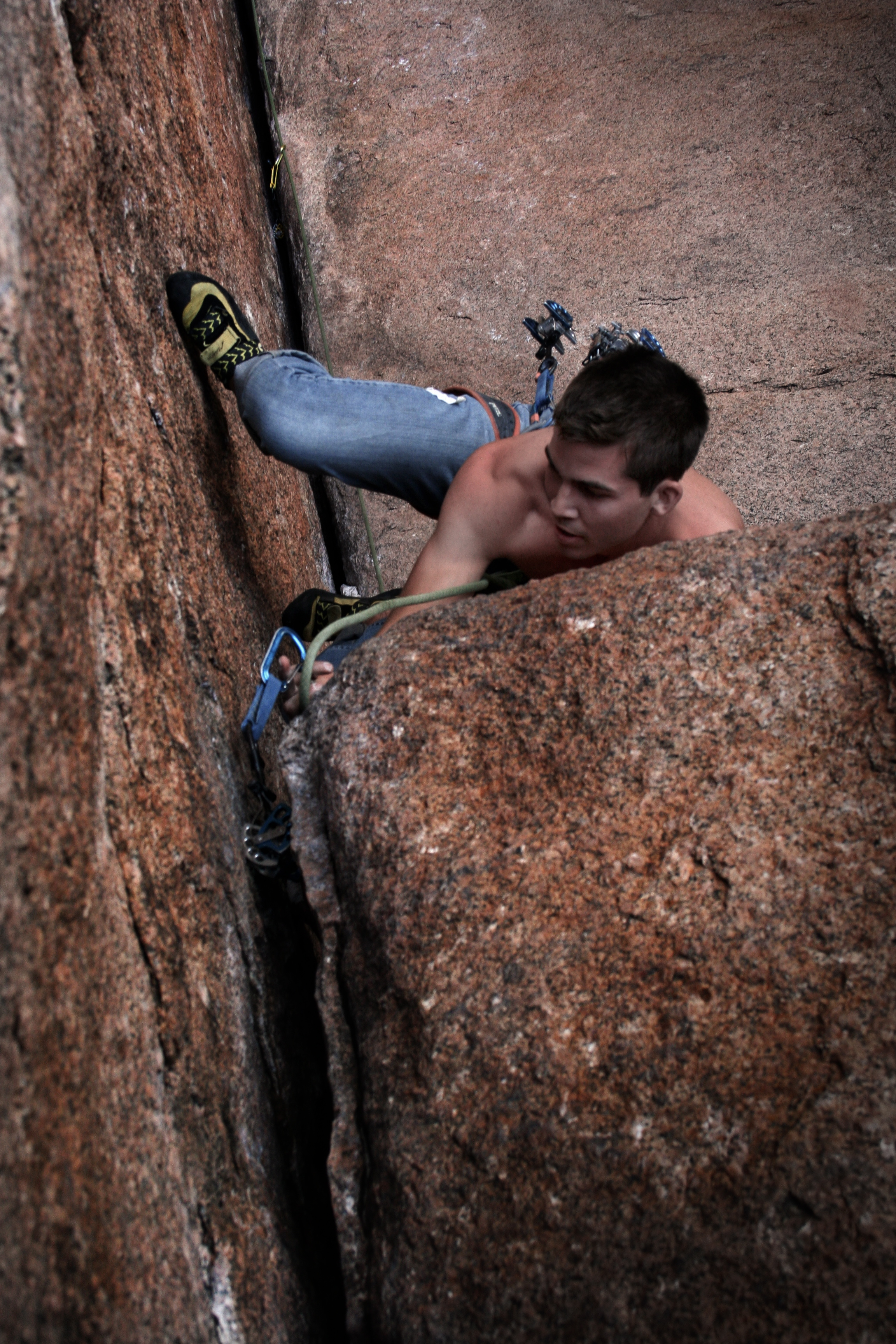 Vedawoo is a mecca for crack climbing... you just better know how to place gear!