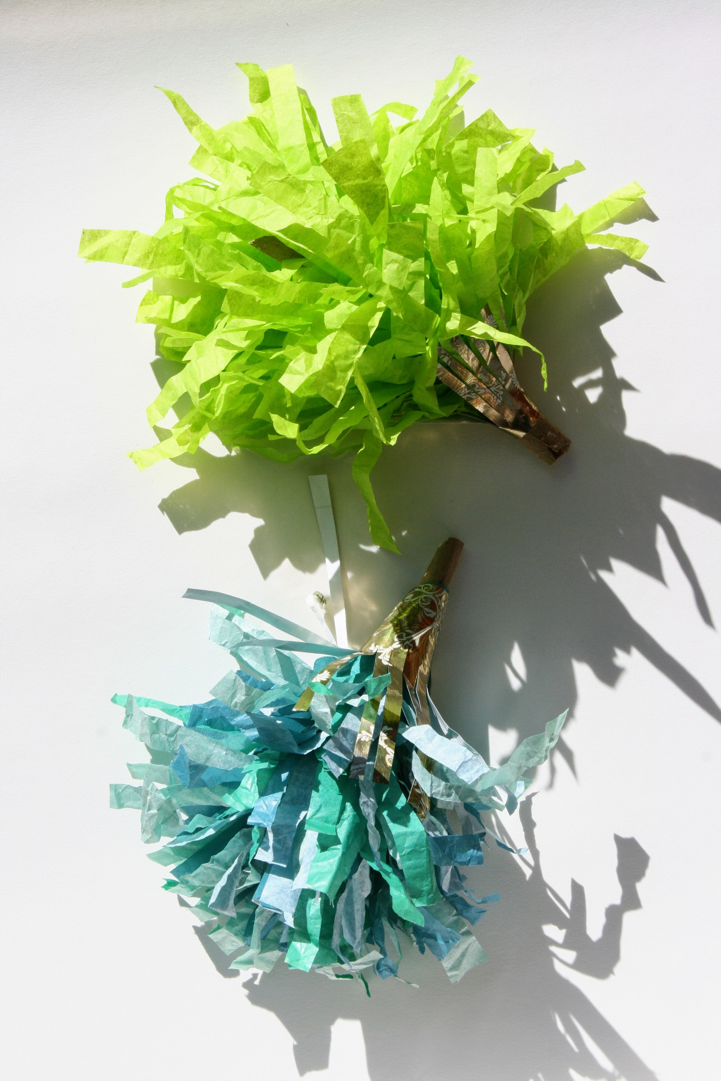 Don't throw away your holiday gift wrappings! - Upcycle as New Years party horns!