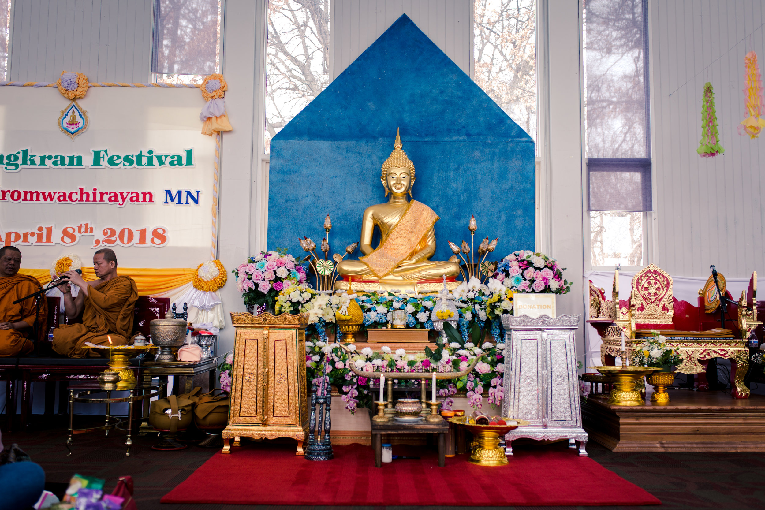 Happy Thai New Year!!! - We had the great privilege of celebrating Songkran with Wat Promwachirayan this Sunday.  This festival of unity is welcome to all where many offer gifts of food for the monks to begin the new year.