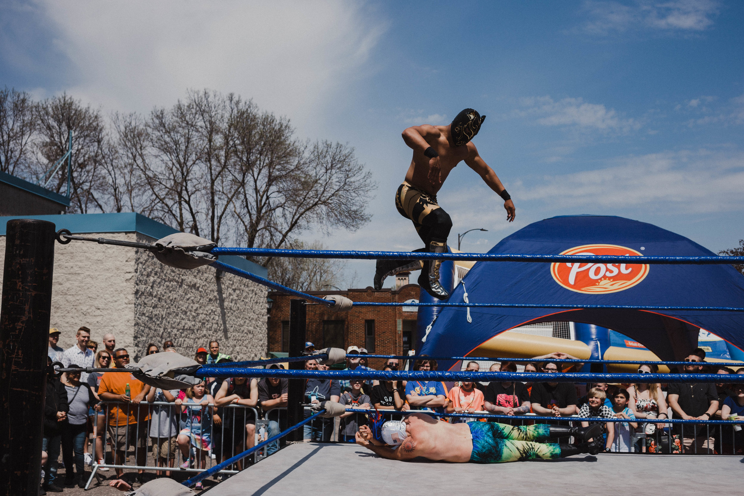 Lucha Libre is a new addition to the cellibration this year. - A free tag-team wrestling match was a fantastic addition to the celebration in Saint Paul this year. I have a feeling that in the coming years they are going to have to expand the viewing area to accomidate its popularity.