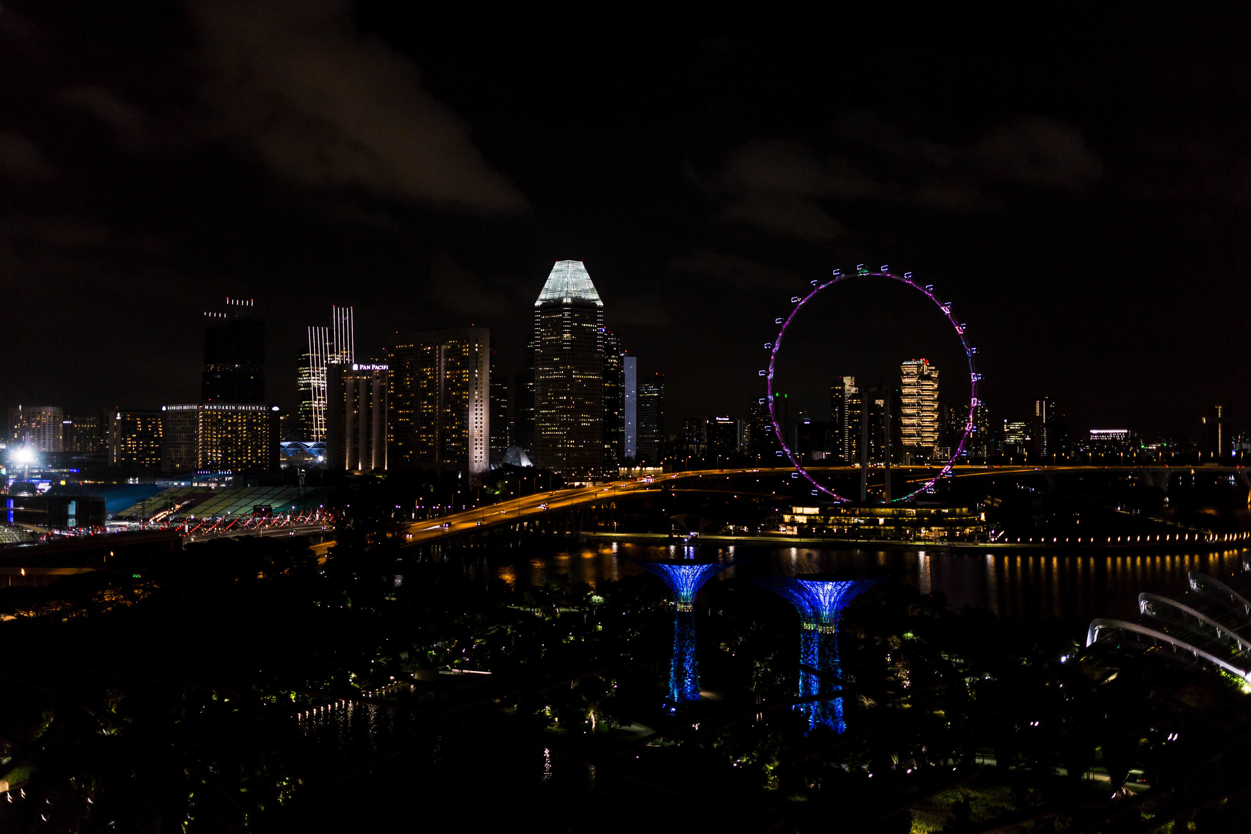 Modern day Singapura is dazzling. - The skyline from Marina Bay Park is awe inspiring.  The 360 degree view from atop the Supertree gives you views of the Port as well as the downtown skyline.