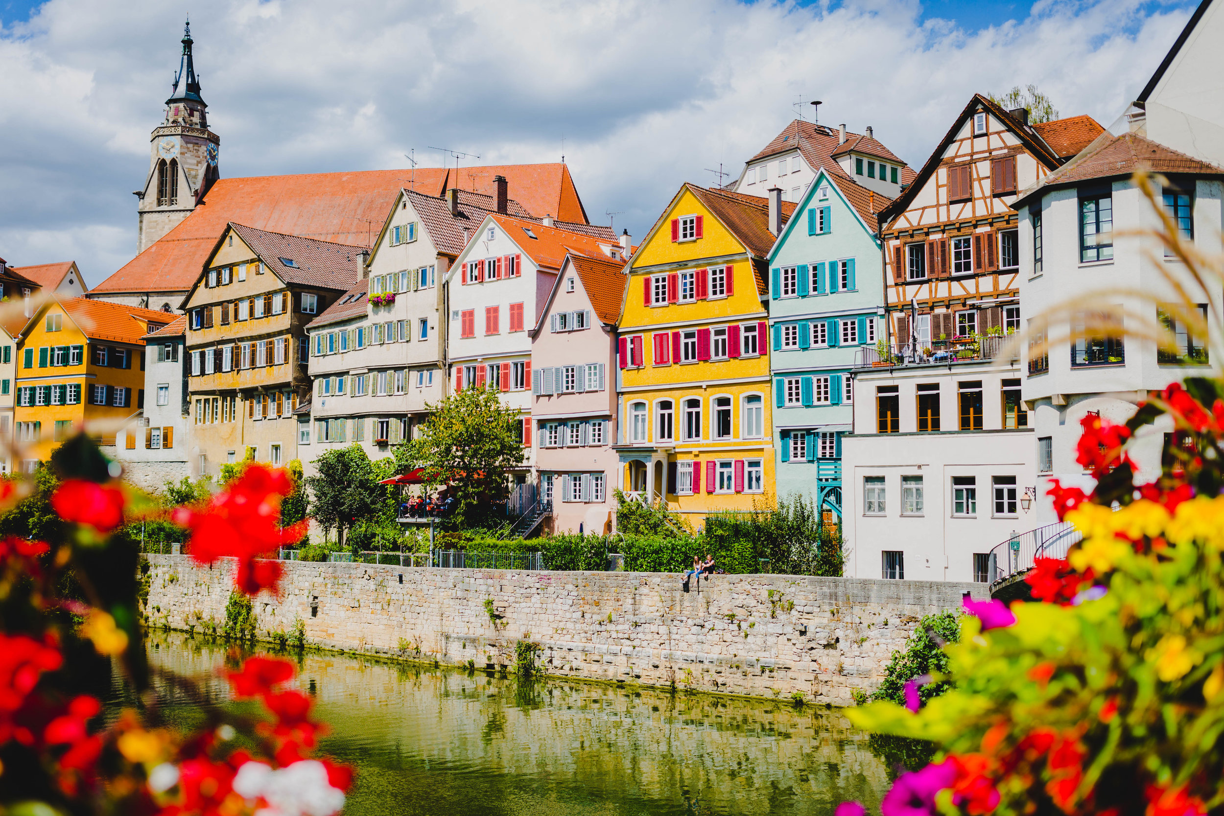 1. Neckar River - Colorful houses line the river in the alstadt where the charm begins!