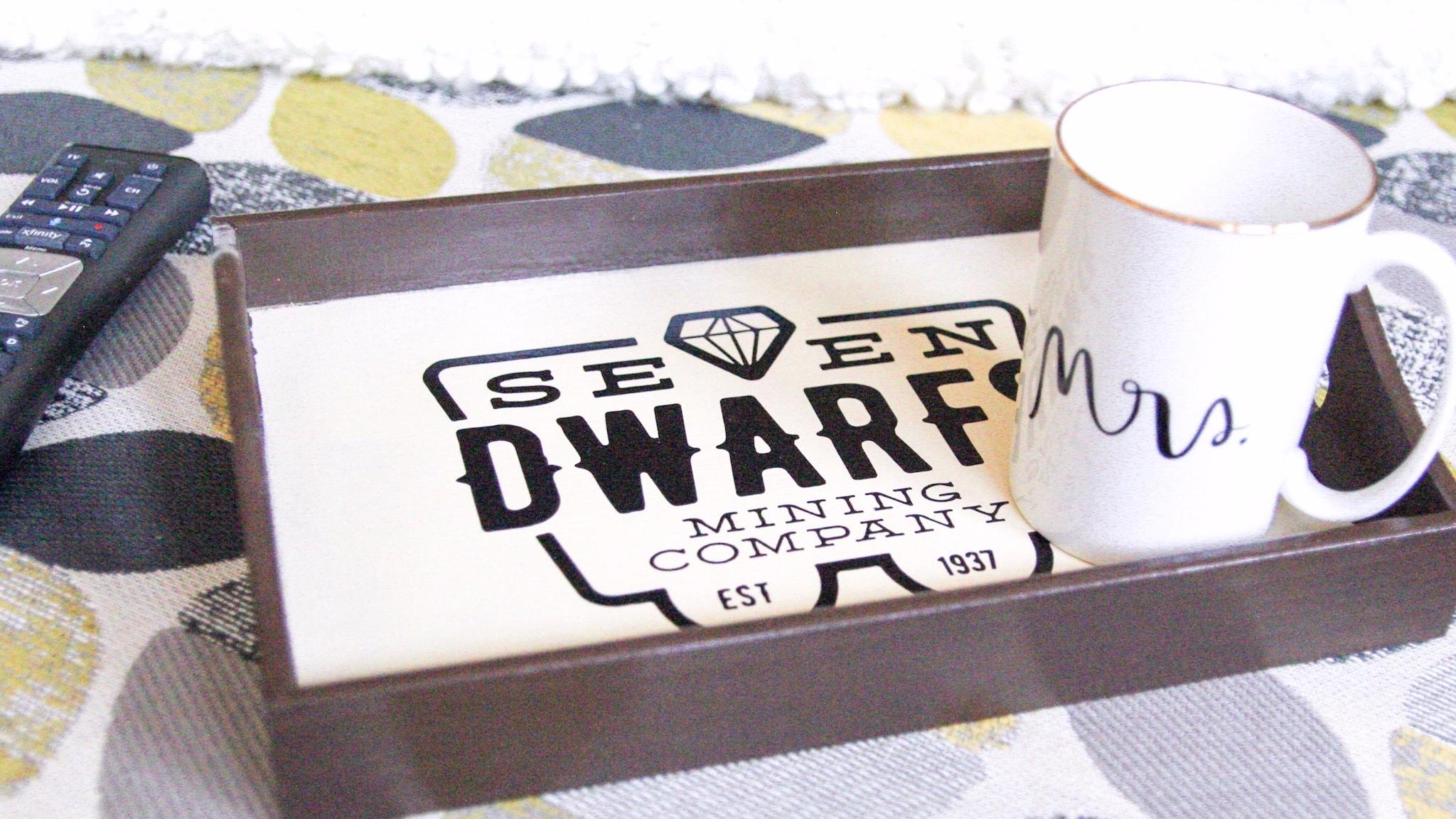 seven dwarfs mine train serving tray