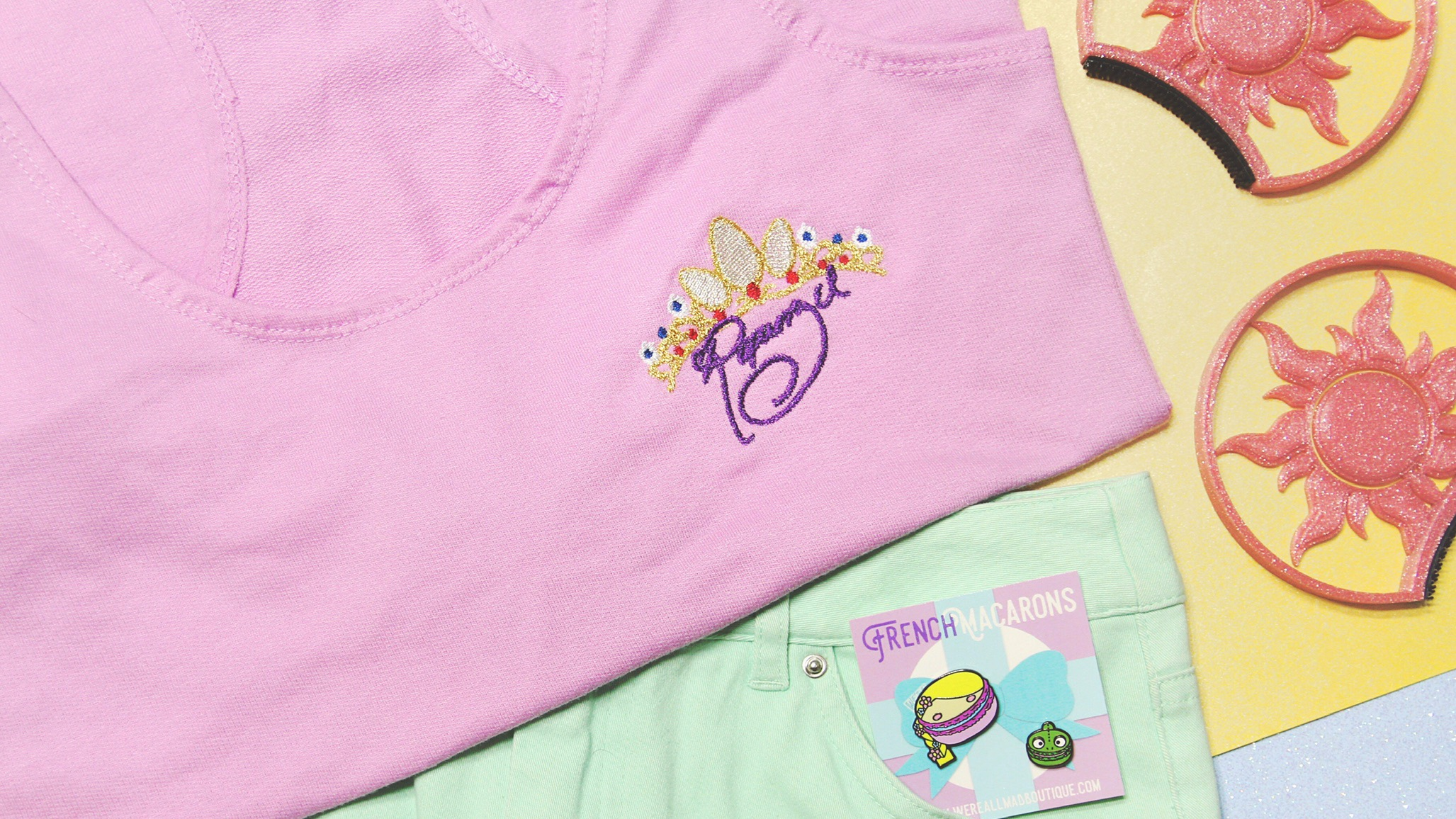 princess autographed embroidered shirt