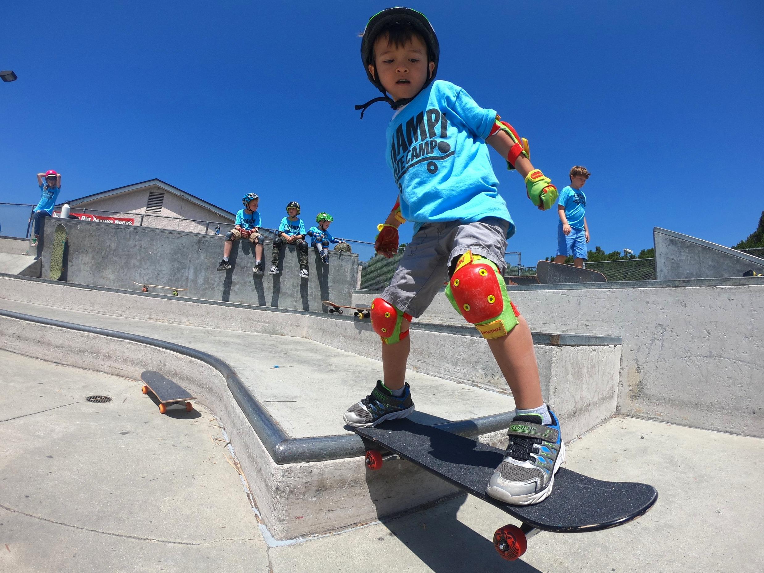 champ skate camp tail drop el segundo skate park grom