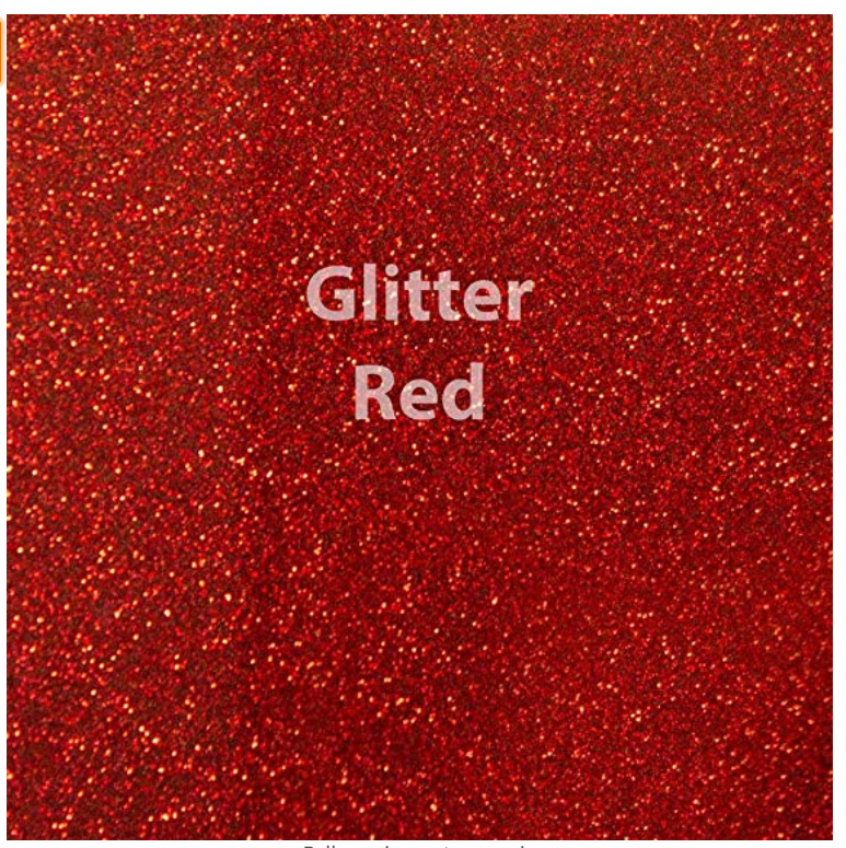 Red Glitter Vinyl