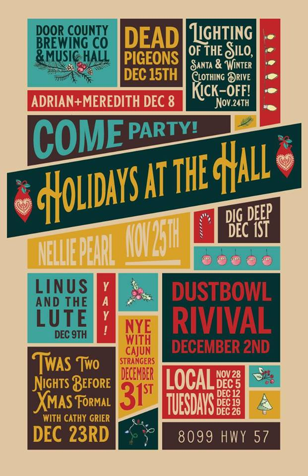 Door-County-Brewing-Holidays-at-the-Hall-Announcement