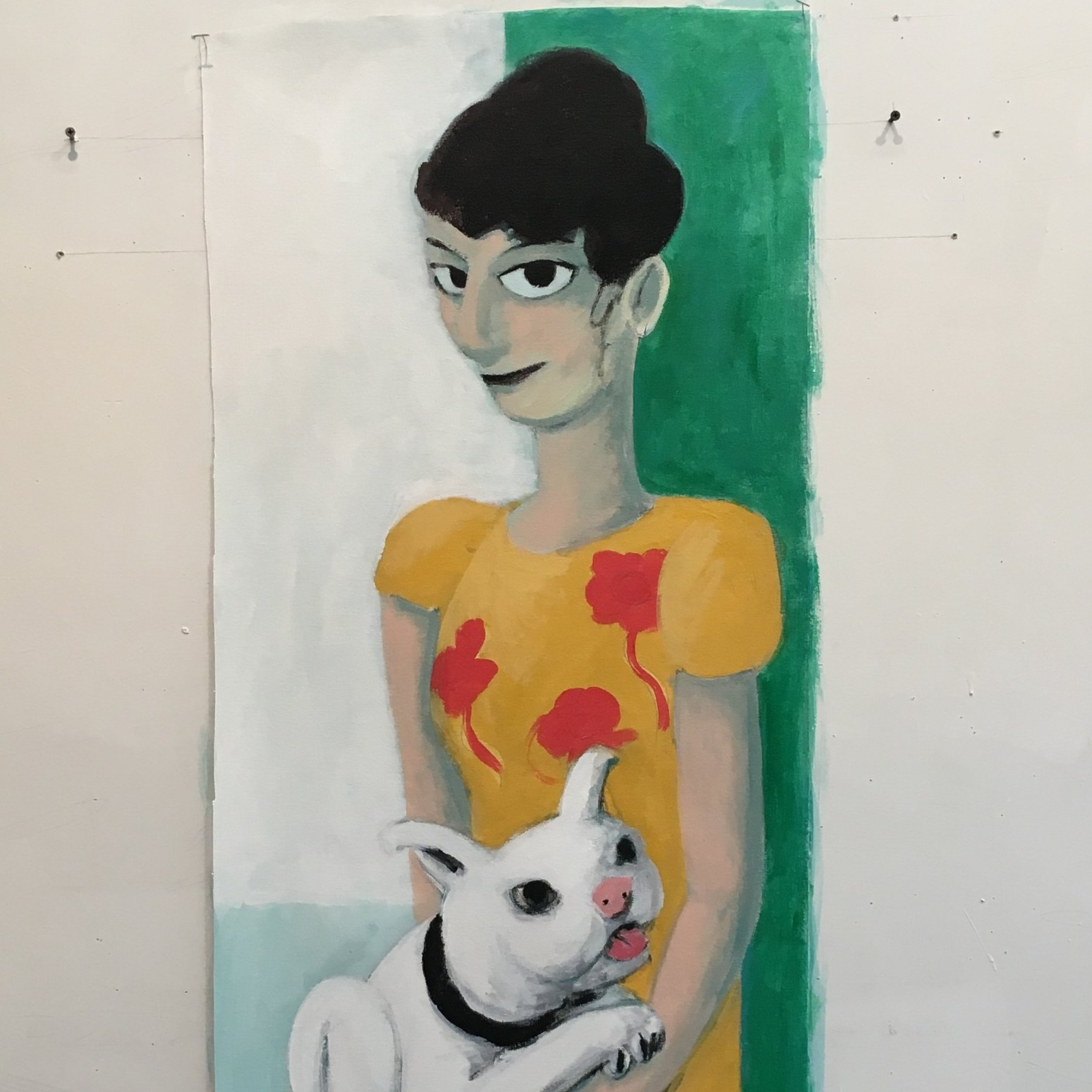 """Woman with Dog"""