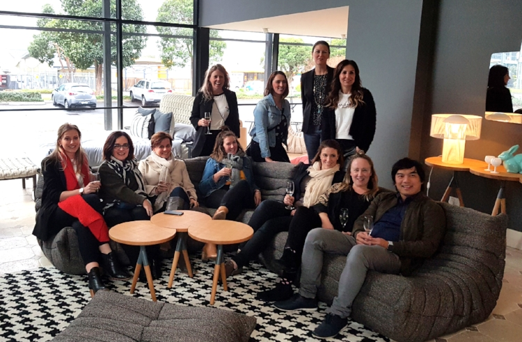 Here is our group of legendary designers at Domo. Thank you for the gorgeous champagne!