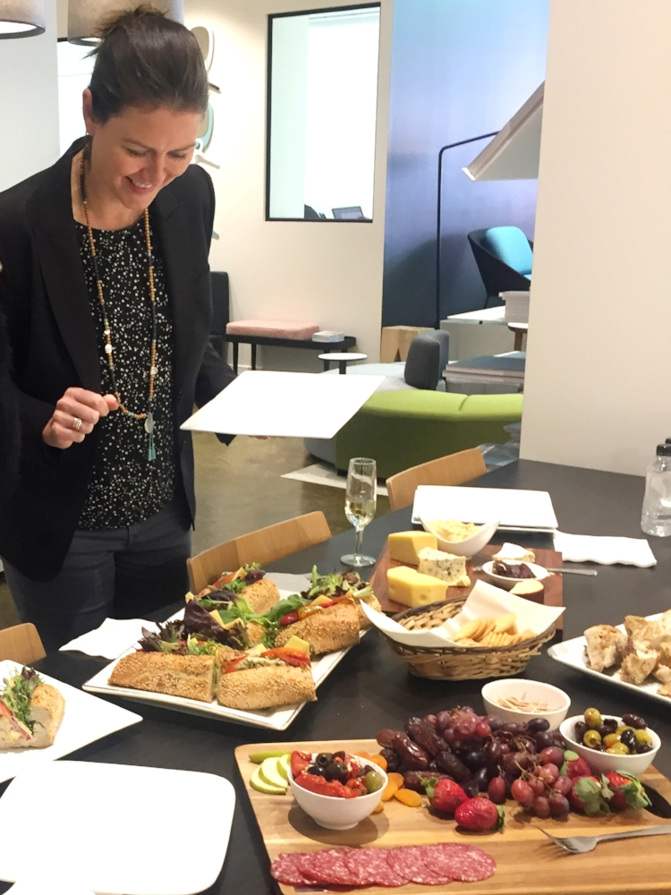 The group were treated to lunch at  Interstudio . It was just delicious, thank you!