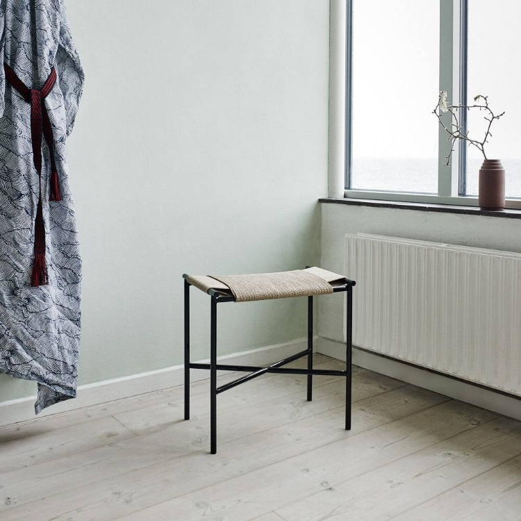 The Vent Stool by Skagerak has a braided paper cord seat, it's just beautiful. It's my favorite brand at  Interstudio.