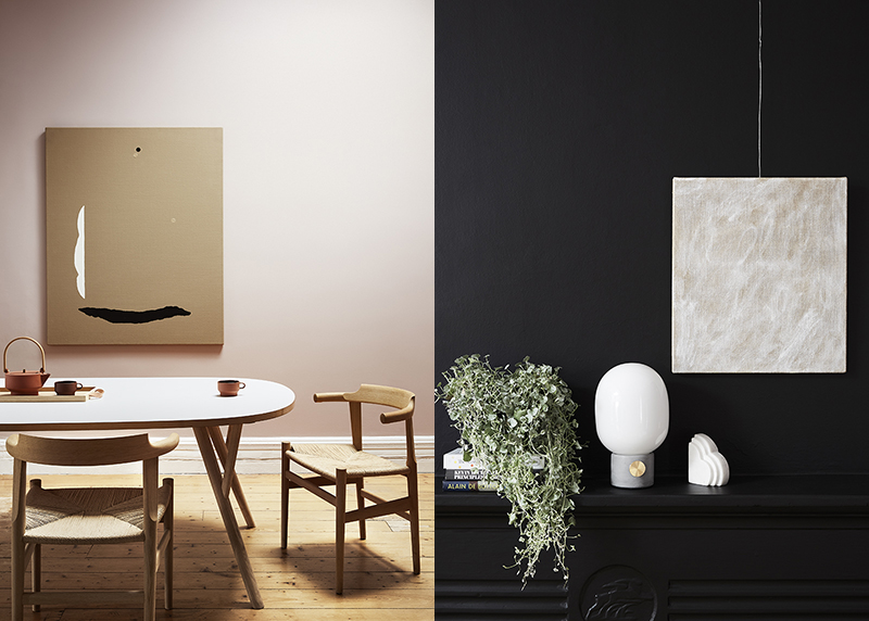 (left) Eleanor Louise Butt's 'Shifts & Turns' (IV) – sold. Photo –  Tess Kelly , interior –  Sisällä . (right) Eleanor Louise Butt's 'untitled' (from After-Image series) available at The Apartment. Photo –  Tess Kelly , interior –  Sisällä .