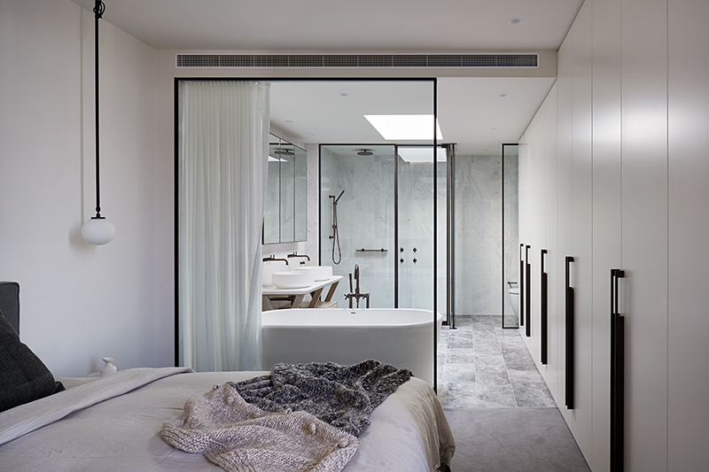 Hecker Guthrie  has not only created a space that is filled with natural light, it also functions well with a series of glass partitions that give a day-spa vibe. Photo –  Shannon McGrath .