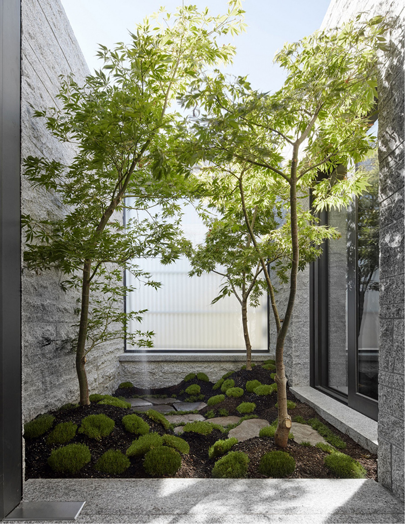 This house by  B.E Architecture  features a particularly unexpected detail in an urban property; a secluded Japanese garden with an outdoor shower. Alongside Japanese design, they channelled inspiration from Chilean landscape architect Juan Grimm and Australian gardens by Edna Walling. Photo –  Peter Clarke .