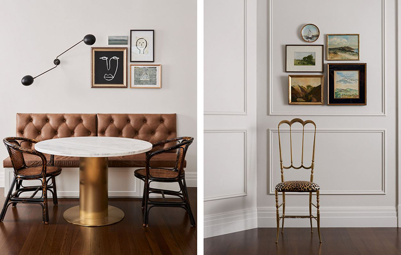 (Left, right) Details from Newtown Residence by  Space, Grace & Style . Photo – Cricket Saleh, Styling – Megan Morton.