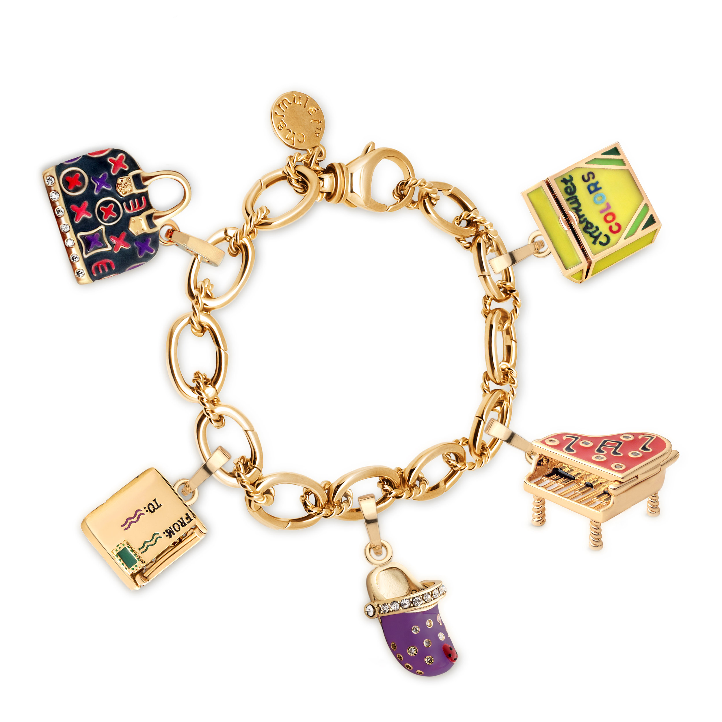 5-charms-on-bracelet-(grey-pocketbook-crayons-piano-purple-croc-envelop)-(around) white.jpg