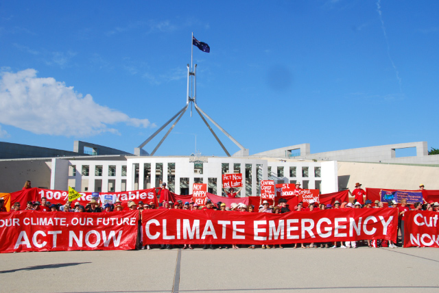 2009 Climate protest, Canberra.  climatecodered.org