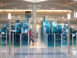 glass art installation Dallas airport