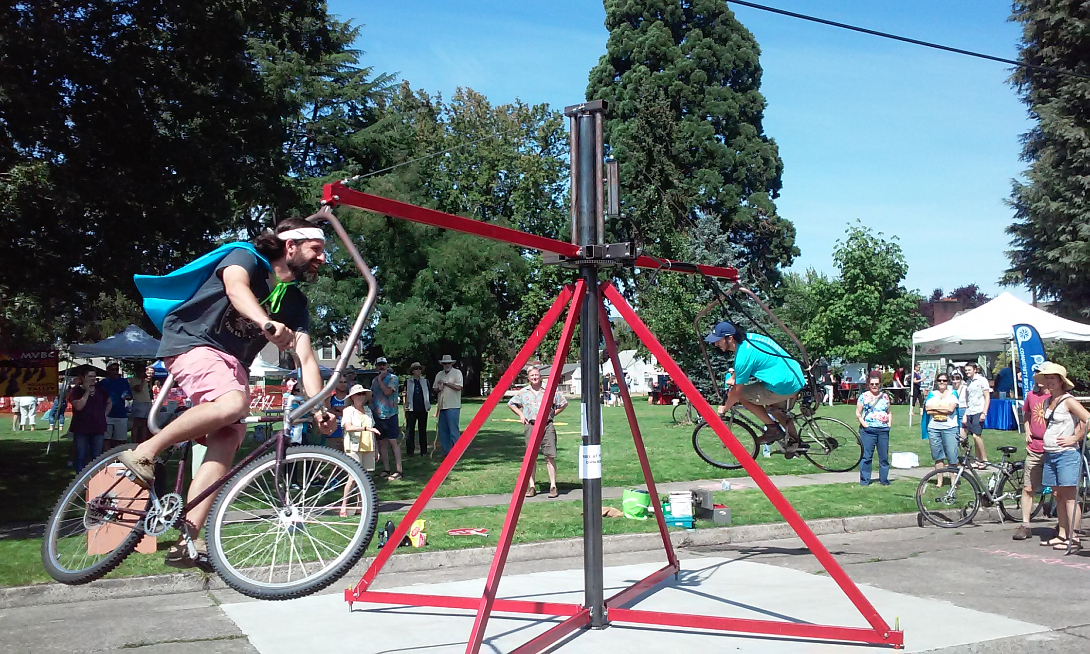 The Flanger in action at Corvallis Open Streets in August 2017