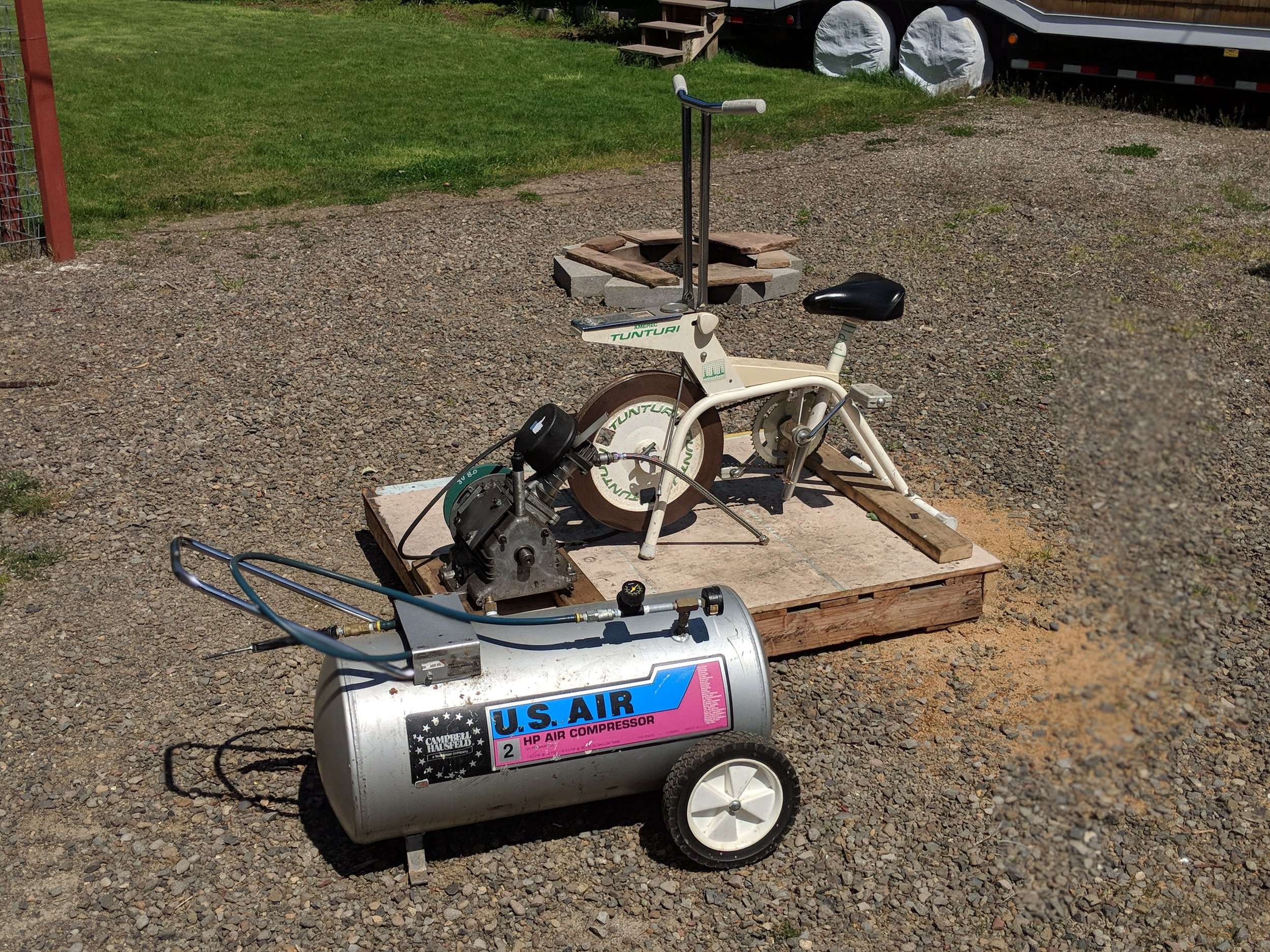 pedal powered air compressor