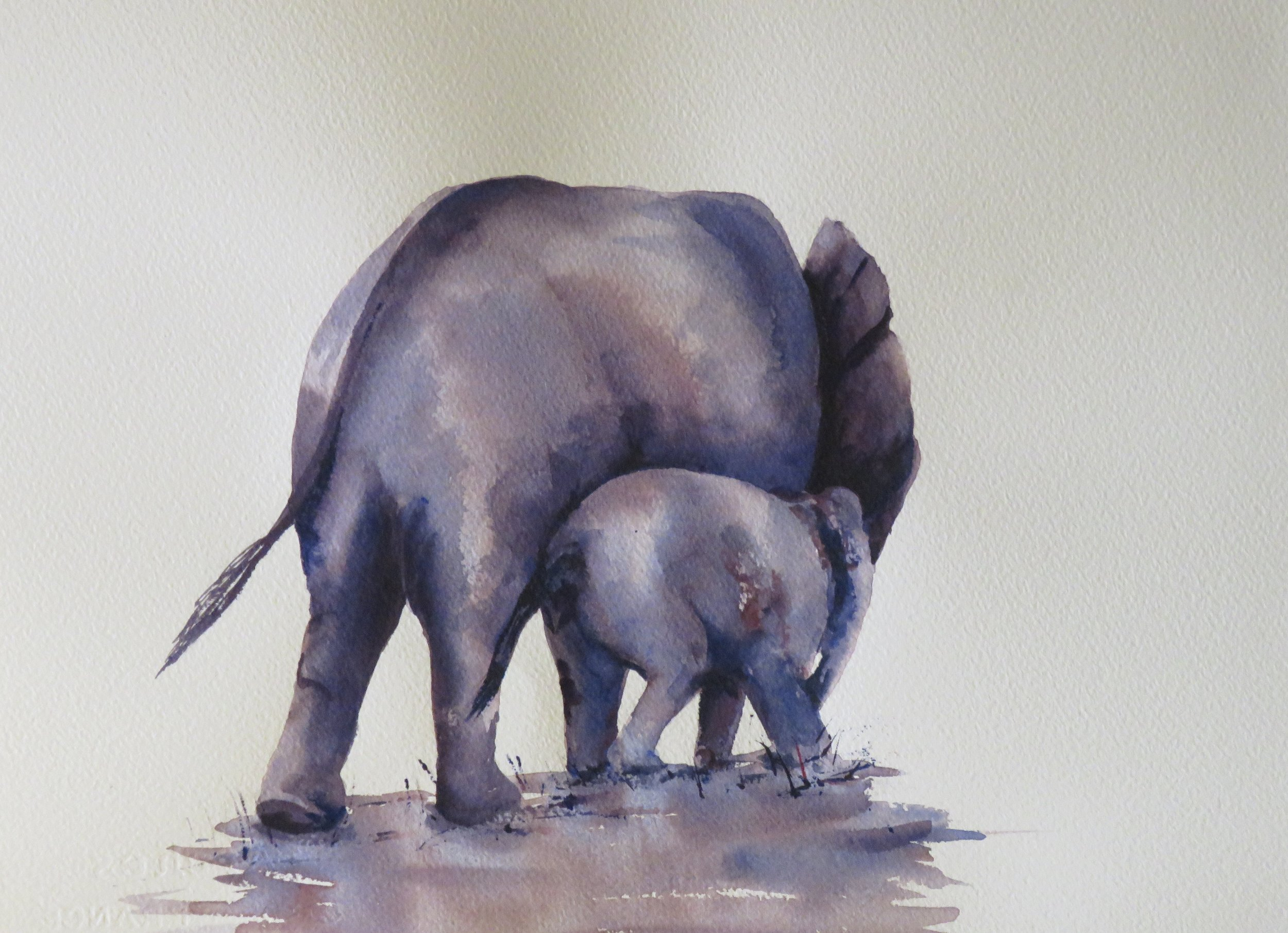 Mother and Baby       36 x 26cm    SOLD