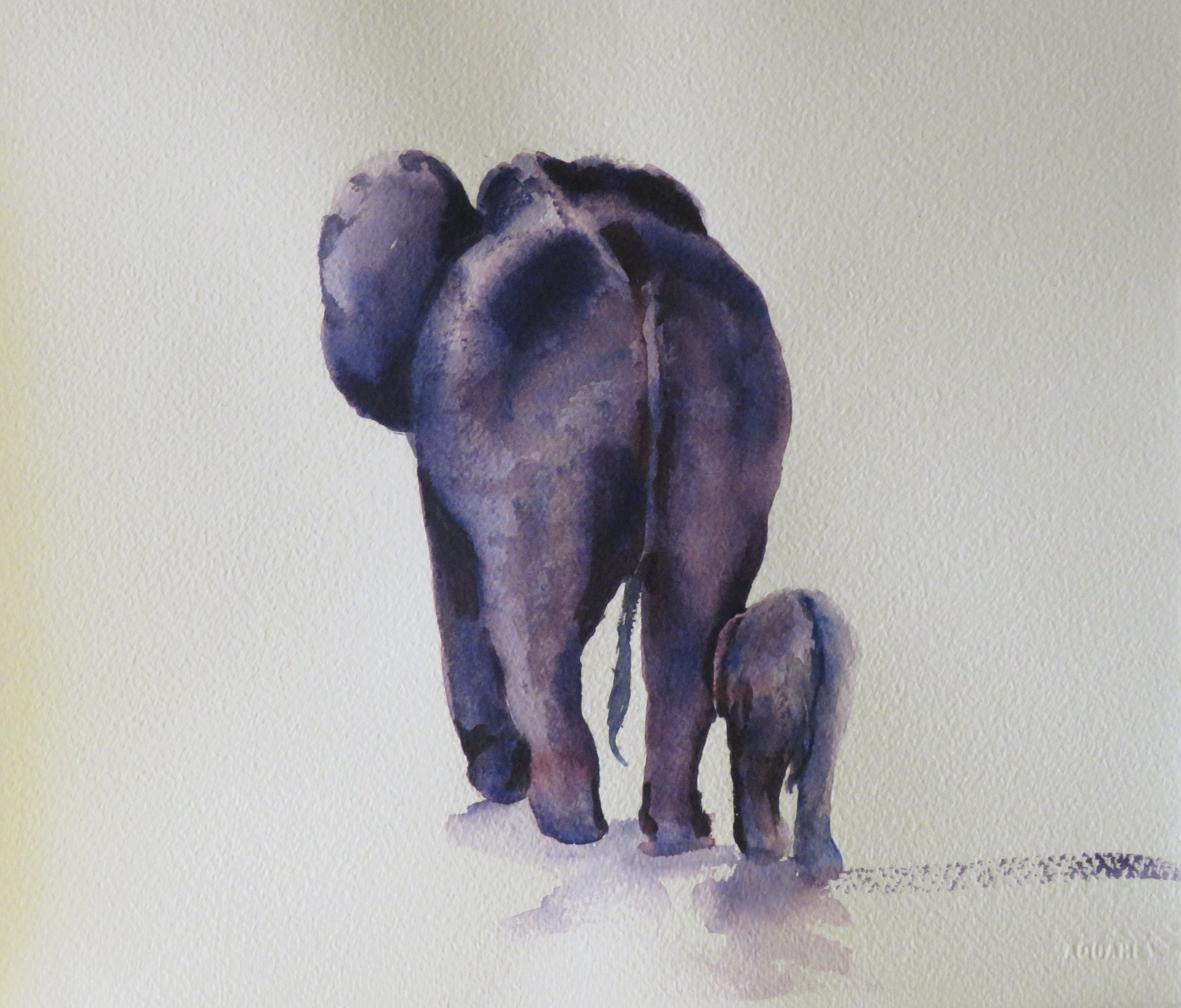 Follow the Leader      36 x 26cm   SOLD