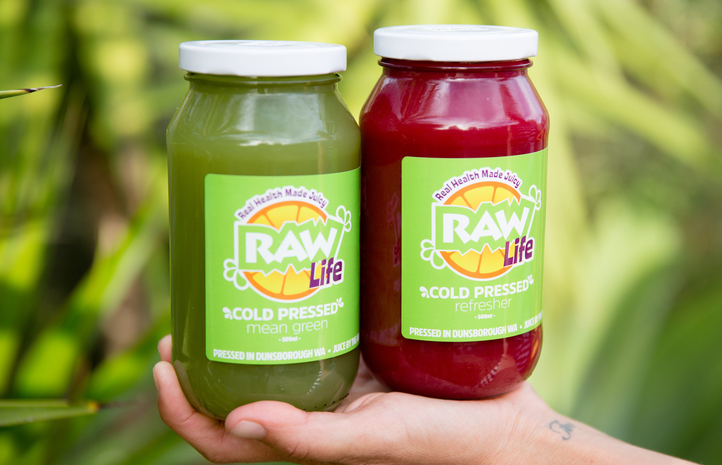COLD PRESSED MEAN GREEN AND REFRESHER JUICES, AVAILABLE AT OUR STOCKISTS