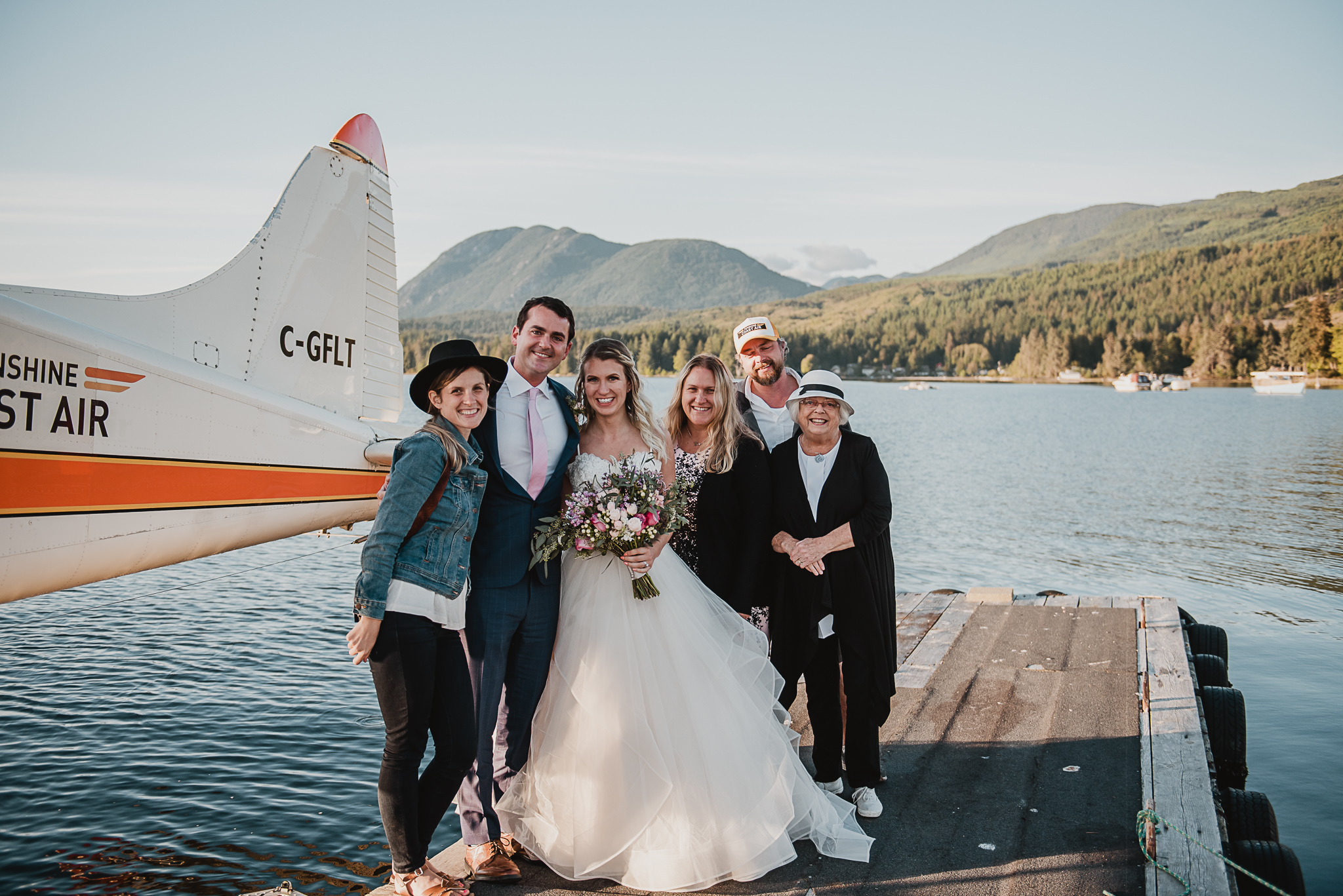 Coastal Weddings and Events, Paige Lorraine Photography and Sunshine Coast Air and Patricia Carswell Officiant Elopement Team.
