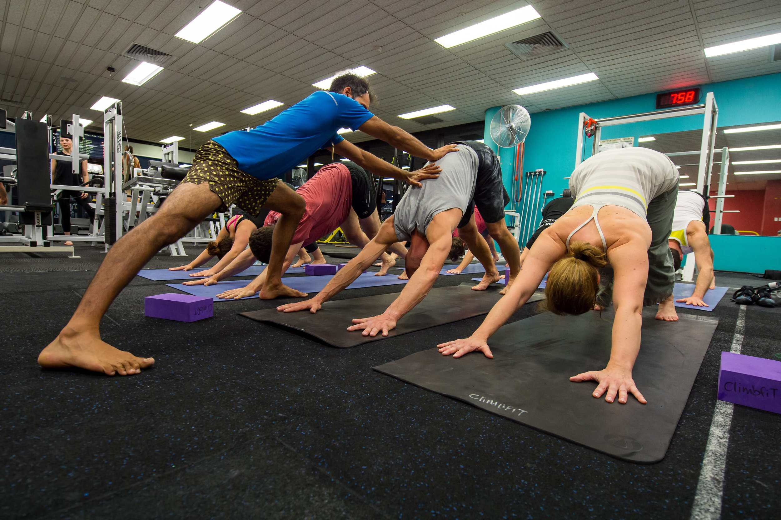 yoga for climbers group class