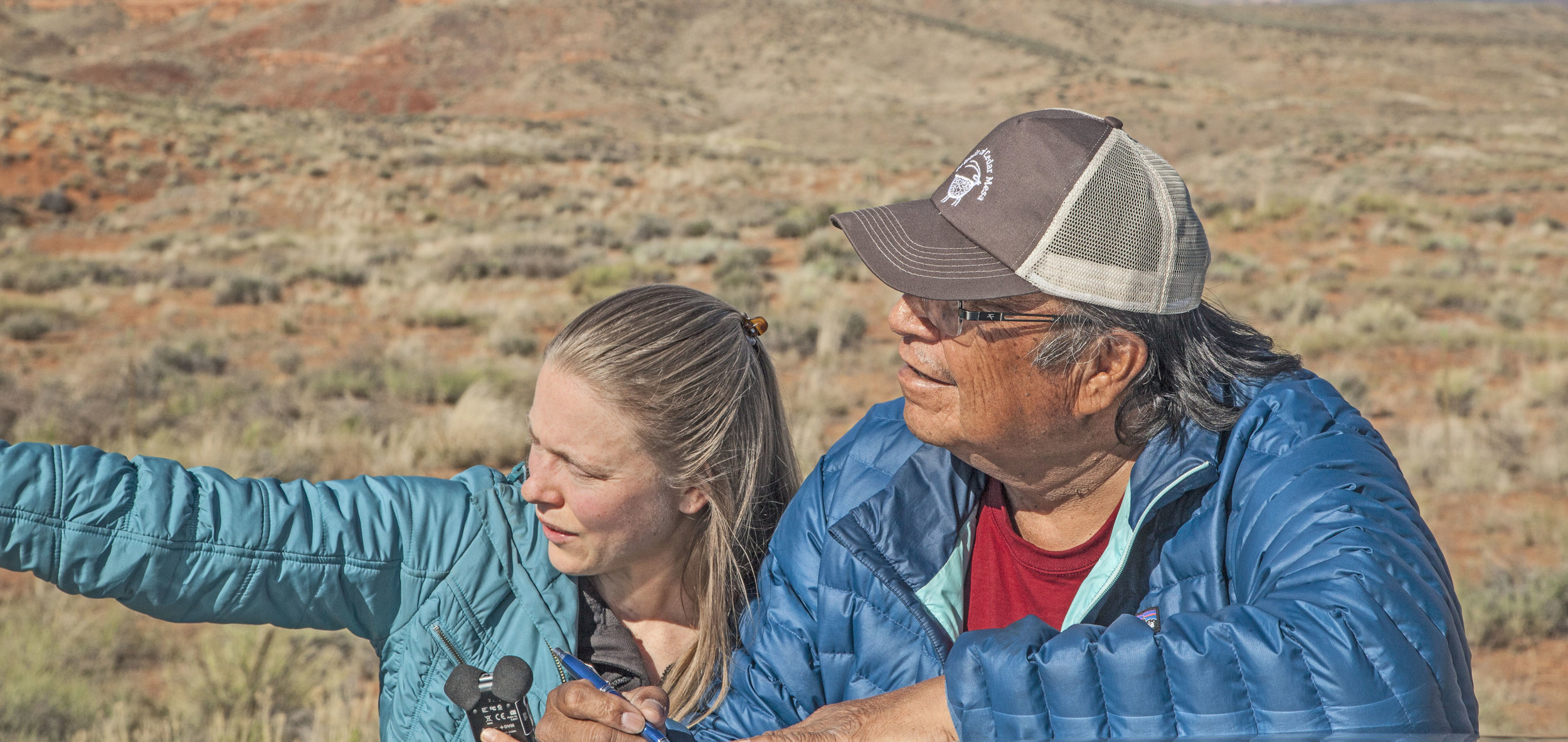 That's me on the left. Next to me is Jonah Yellowman, a Navajo spiritual healer who is one of many people featured in my forthcoming book,  Bears Ears Country: Seeking Common Ground on Sacred Land.  Learn more at    BearsEarsCountry.com.