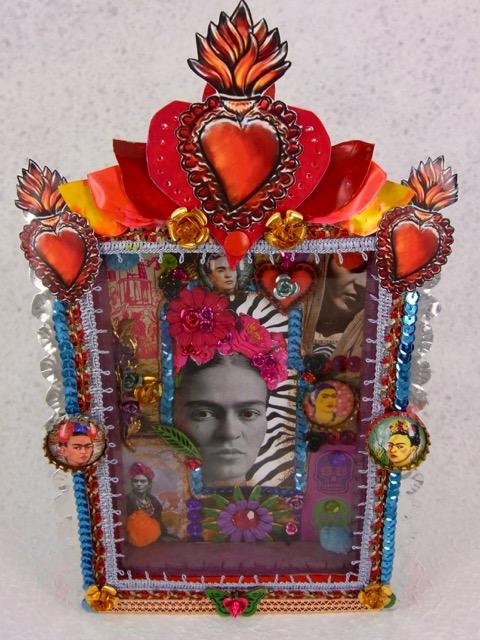 Mexican folk art shadow box