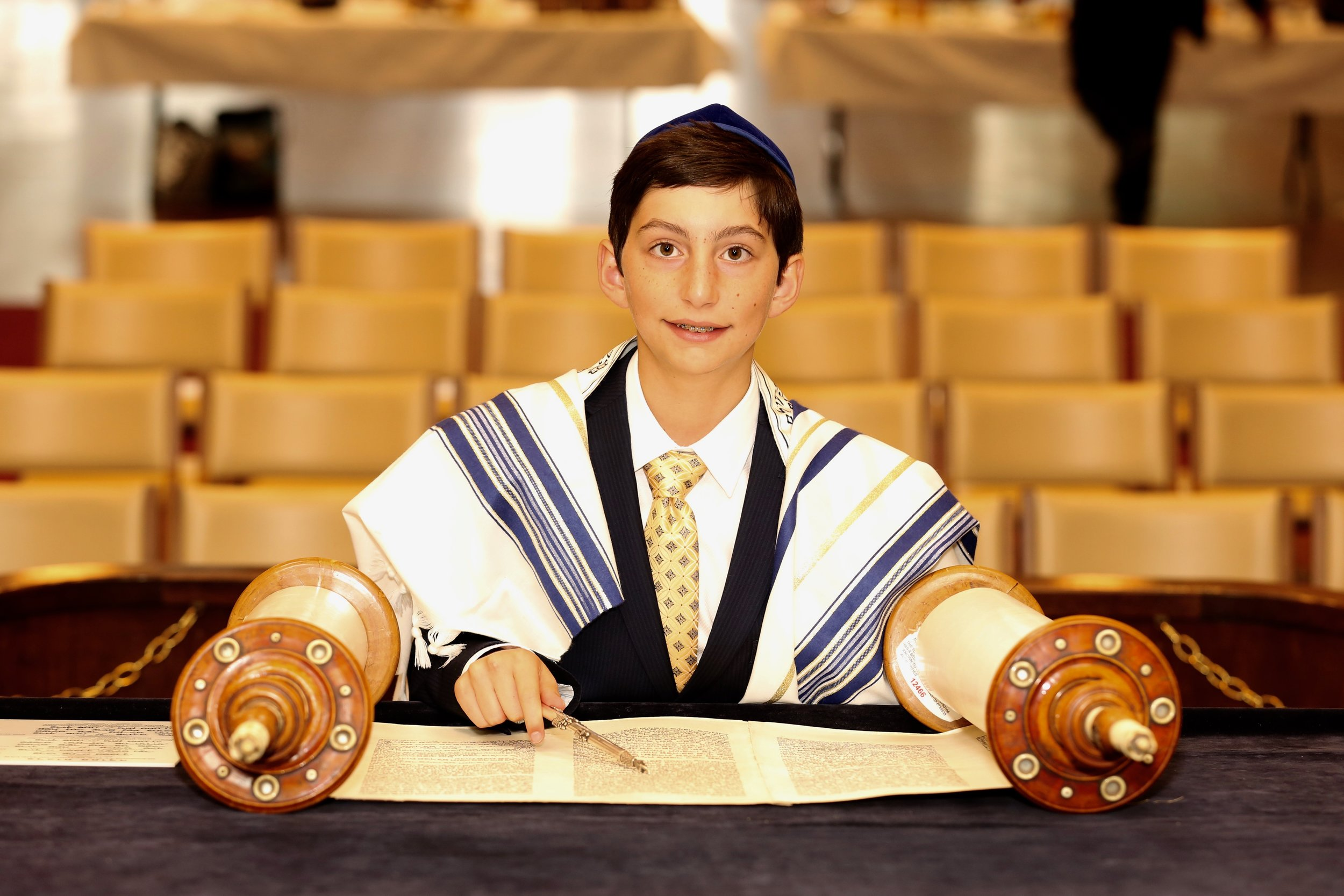 Bar Mitzvah Service at Congregation Etz Chaim, New Jersey