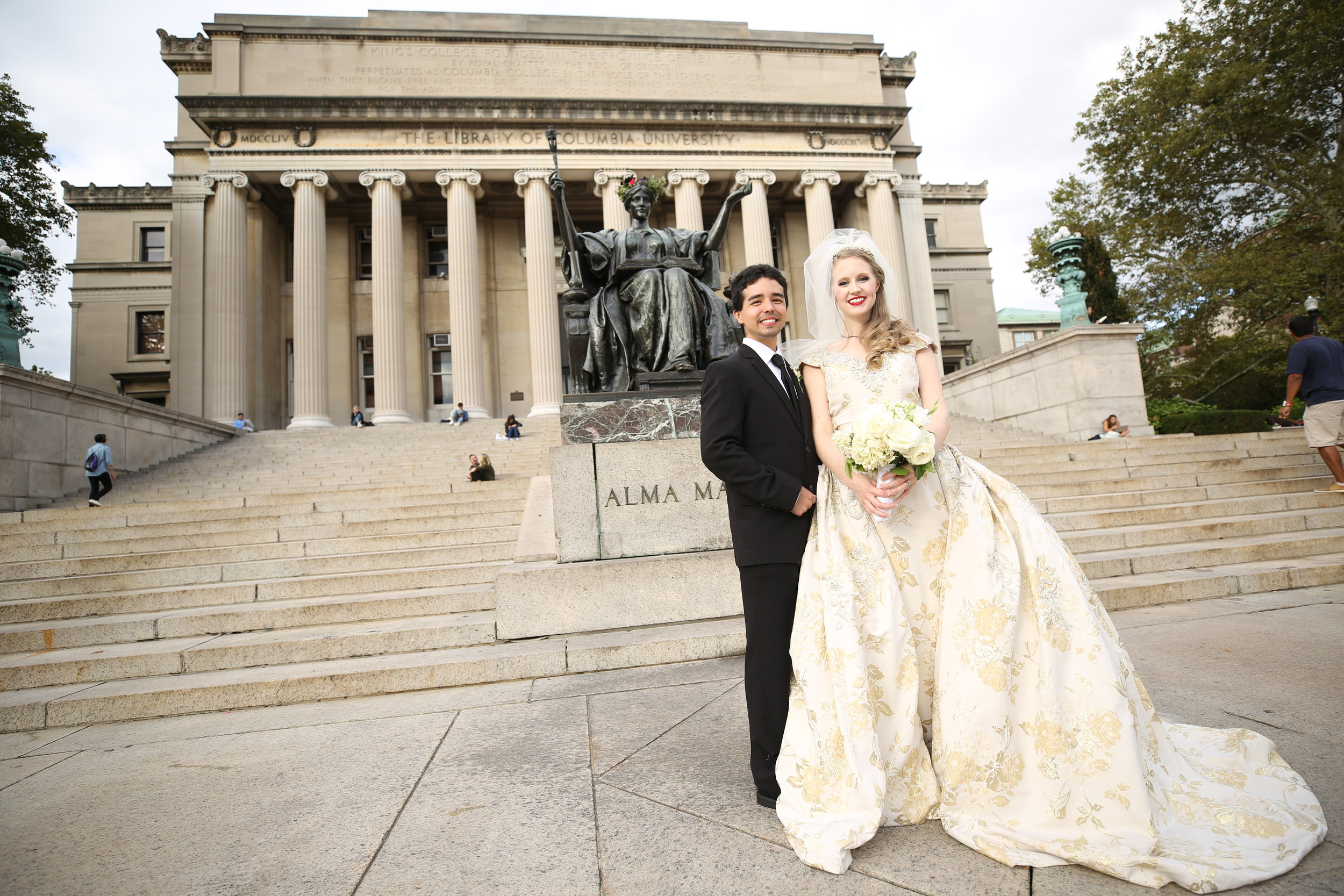 Columbia University Wedding at at St. Paul's Chapel, New York