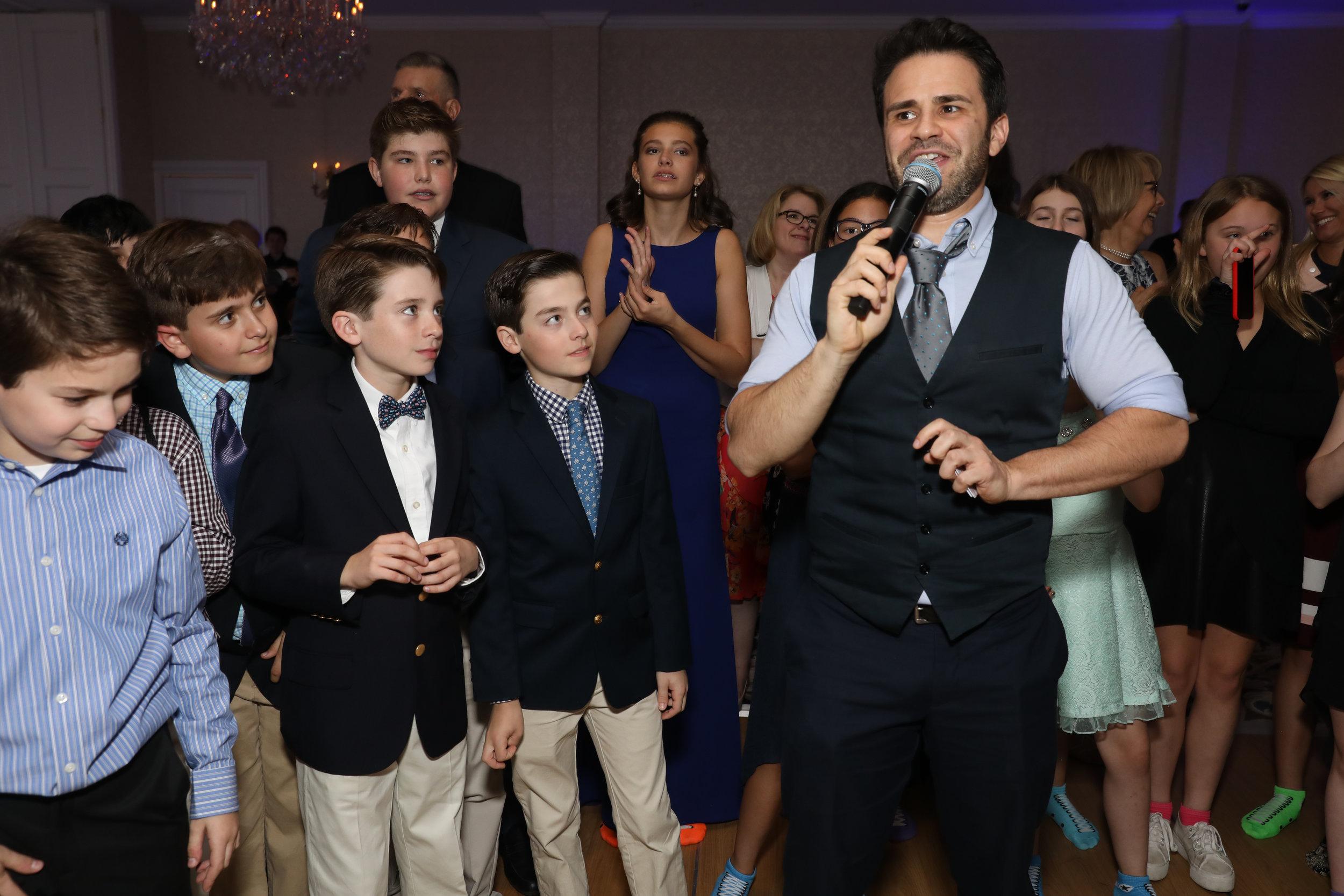 Mc Gabriel and kids @ Bar Mitzvah