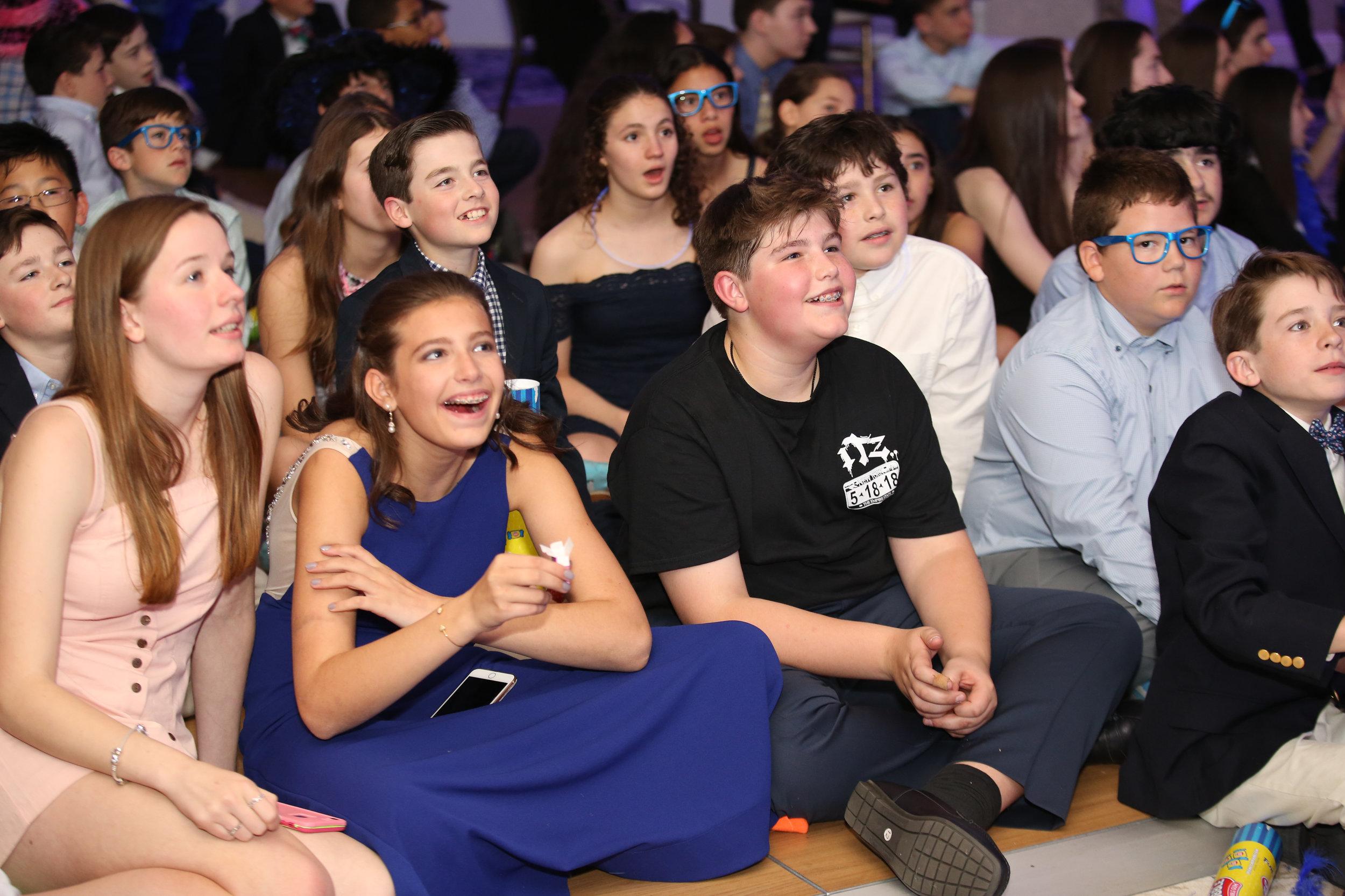 Kids watching Montage @ Bar Mitzvah