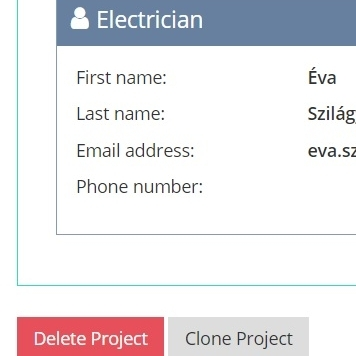 CLONING PROJECTS - You can clone similar projects and after customization you are ready to send a new quotation.