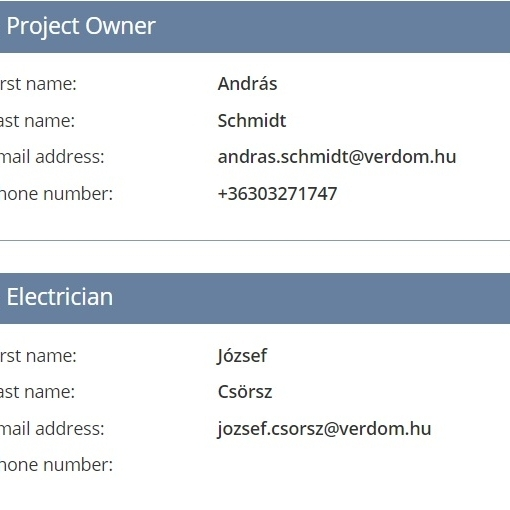 CONTACT DATA - You can find names and contact data of all participants in one place.