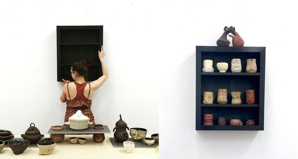 Body Series: Setup shot, Ceramics, 2017.