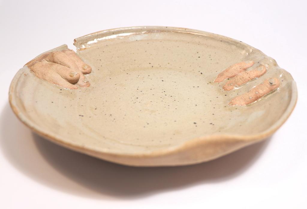 Finger to Lip, Ceramics, Cone 6 Reduction, 9.5 x 9 x 2in, 2017.