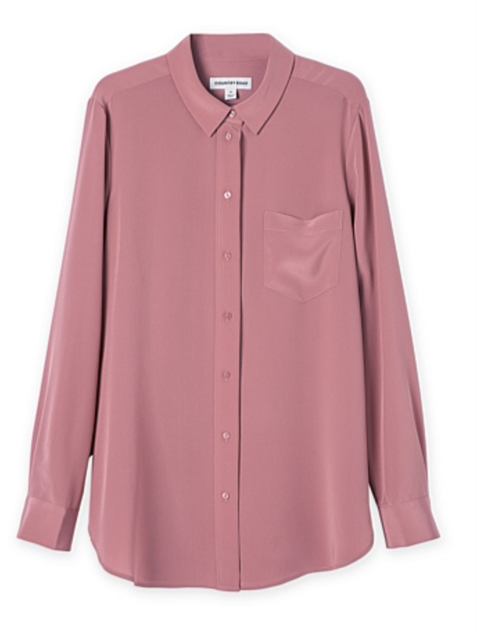 Country Road dark blush blouse