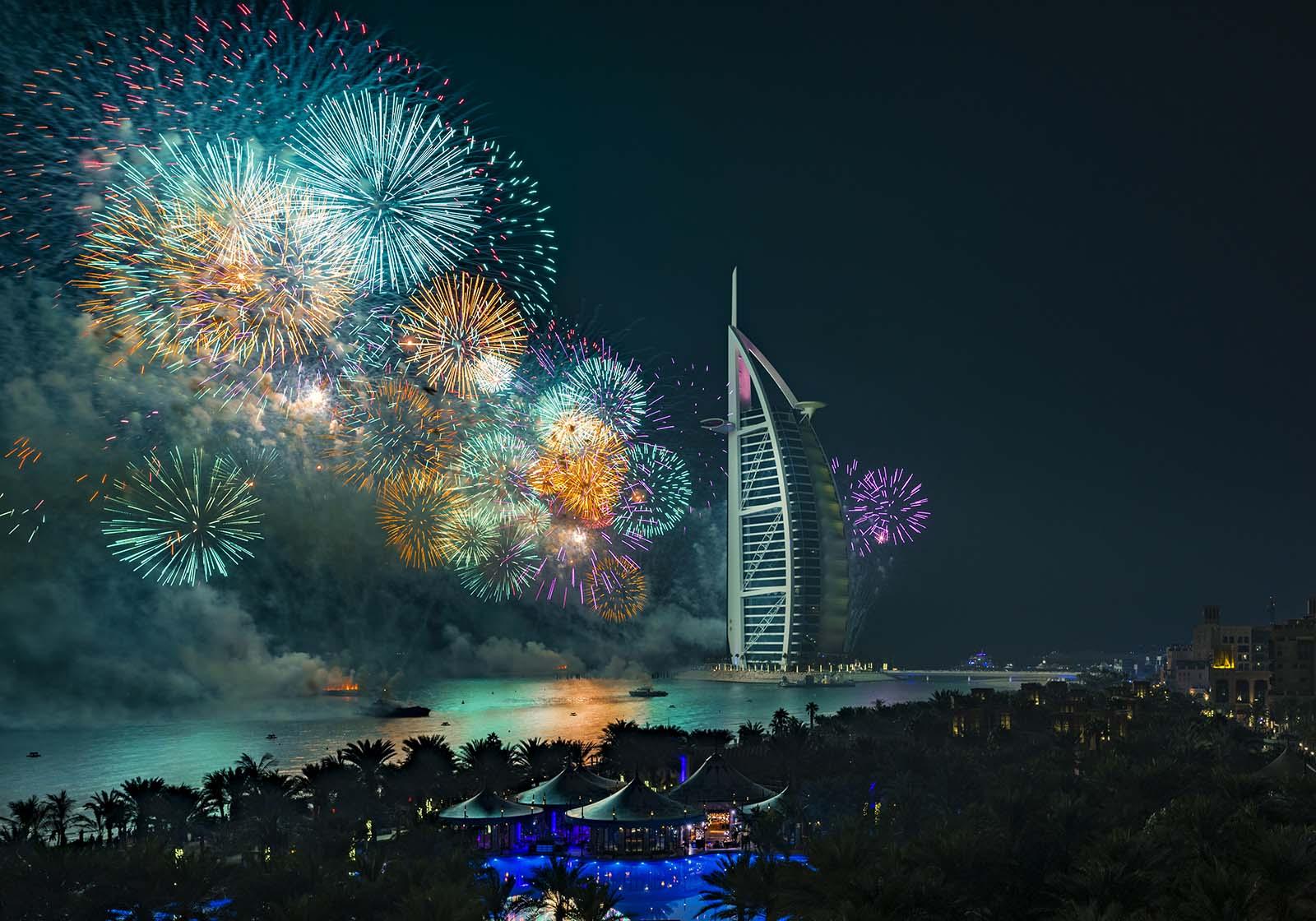 New years eve fireworks celebrations