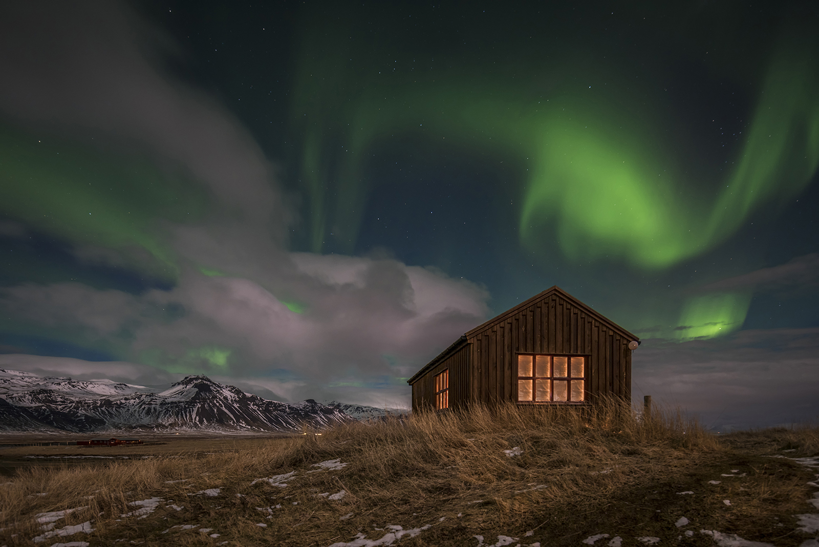 Iceland-Northern Light-Aurora-Aurora Boralis-Church
