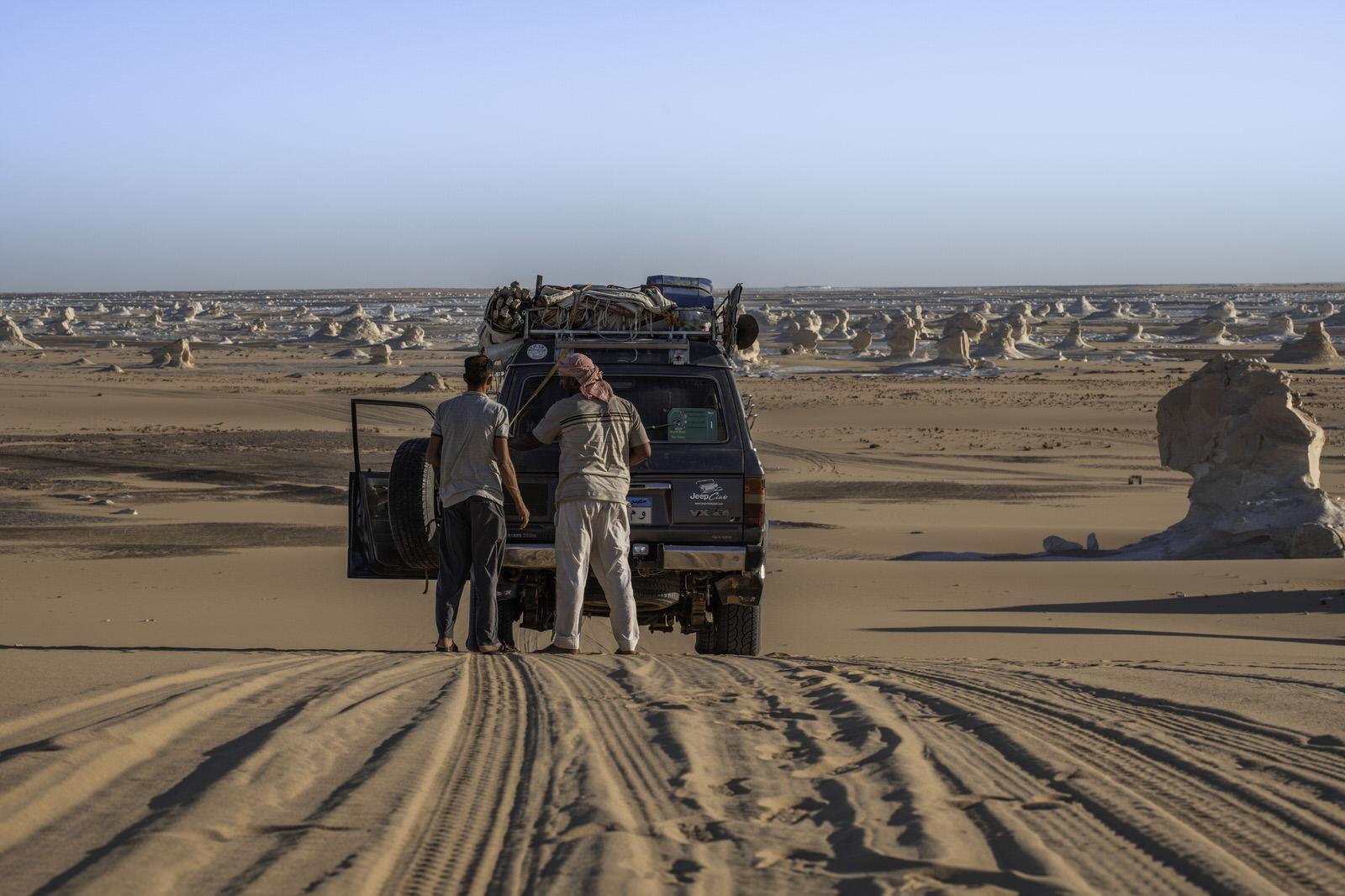 4x4 adventure at the white desert Egypt
