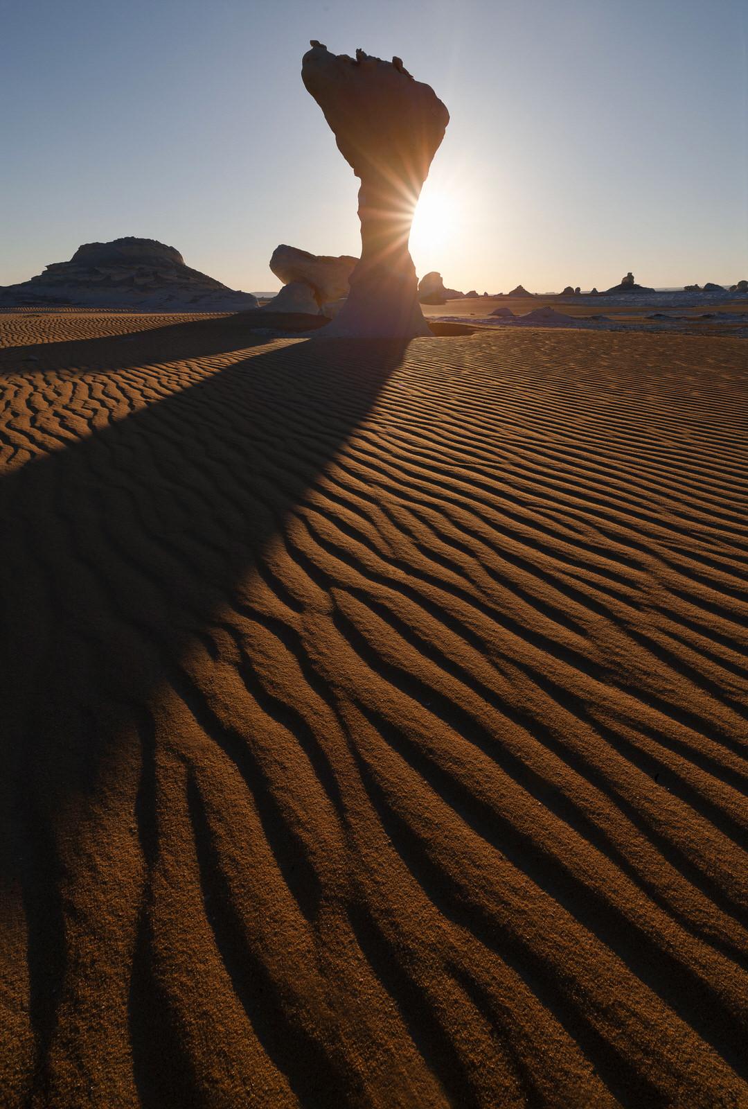 sunset at the white desert, Farafra