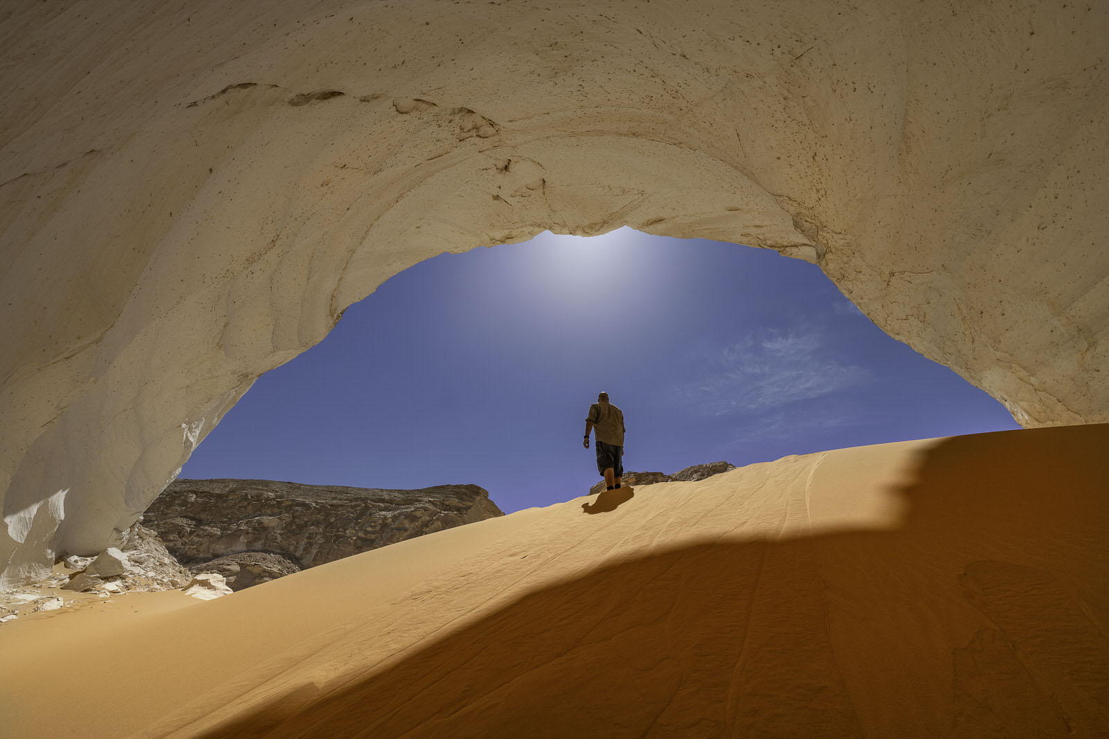 A cave at the white desert egypt